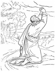 Elijah Prophet Praying To God Coloring Pages
