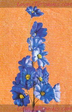 Лён -Linum(Flax) flower tutorial