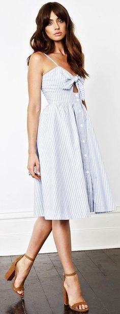 Striped Shirt Dress                                                                             Source