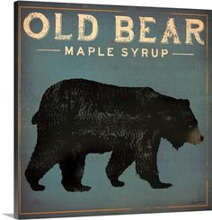 Great Big Canvas 'Old Bear' by Ryan Fowler Vintage Advertisement Size: H x W x D, Format: Canvas Canvas Artwork, Canvas Frame, Framed Artwork, Canvas Prints, Framed Prints, Art Prints, Wall Art, Big Canvas, Wall Decor