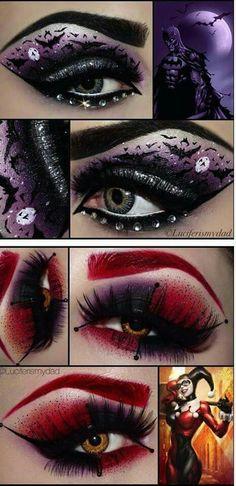Comic book make up 5 Makeup Art, Makeup Tips, Hair Makeup, Makeup Ideas, Pretty Makeup, Makeup Looks, Batman Makeup, Superhero Makeup, Halloween Make Up
