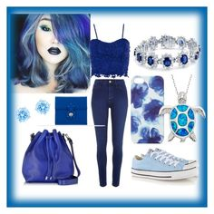 Blue by blincoln on Polyvore featuring Dorothy Perkins, River Island, Converse, Proenza Schouler, Ralph Lauren, Bling Jewelry, Swarovski and Jigsaw