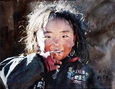 гуру акварели Liu YunSheng
