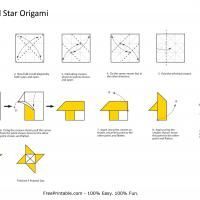 This Star Origami Is A Free Image For You To Print Out