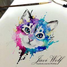 De vuelta a la dibujada :) Pintura de un servido- Diseño propio y disponible para tatuaje y venta. Drawn by @javiwolfink www.javiwolf.com