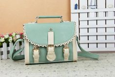 mint or brown faux leather messanger bag $26 http://www.storenvy.com/products/1584355-lovely-bag