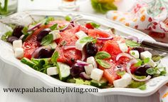 Watermelon - Cucumber Salad Light & Delicious For Summer!
