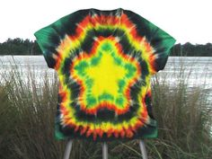 DIY Clothes DIY Refashion: DIY How To Tie Dye A Nice Five Pointed Star