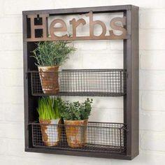 """Herbs"" Wall Shelf"