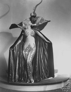 I will probably never actually do this as a costume, but it is still awesome campy evil.    Marion Martin and Satan