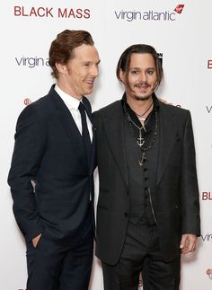 Pin for Later: Catch Up on All the Red Carpet Action at the London Film Festival Benedict Cumberbatch and Johnny Depp At the gala premiere of Black Mass.