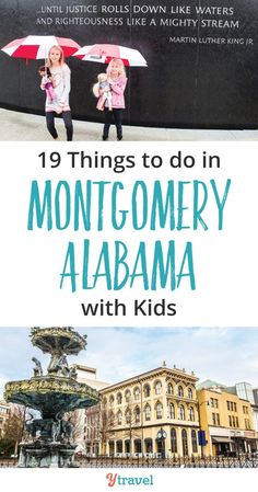 Things to do in Montgomery Alabama with kids. Check out these 19 Montgomery attractions - civil rights history, museums and tasty places to eat. #Montgomery #Alabama #Al #TheSouth #civilrights #rosaparks #MLK #martinlutherking #travel #familytravel #roadtrip