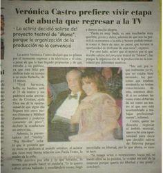 Veronica Castro prefiere vivir etapa de abuela que regresar a la TV.