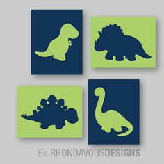 Baby Boy Nursery Art Boy Nursery Decor Dinosaur Nursery
