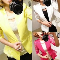 Find More Blazers Information about Women's Sexy Floral Sleeve Slim Blazer Jacket One Button Short Suit Coat Outwear,High Quality women jacket 2012,China coat blazer jacket Suppliers, Cheap womens coats jackets from large supermarket for U on Aliexpress.com