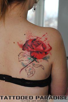 rose watercolor by dopeindulgence.deviantart.com on @DeviantArt