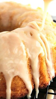 Vanilla Bean Bundt Cake ~ The cake is a vanilla explosion with a tender crumb that just melts in the mouth.  It is moist beyond belief. The glaze is what makes it taste like a donut so don't skip it.