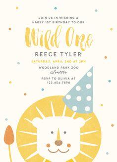 birthday party invitations - Wild One by Lisa Cersovsky