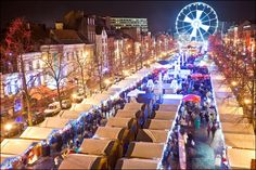 Brussels, Belgium - the Plaisirs d'hiver Christmas Market extends through the historic city center - named #3 Best Christmas Market in Europe 2014 ... by European Best Destinations