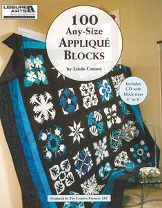 "Leisure Arts 100 Any-Size Applique Blocks CD & Book- This book shows patterns for 100 beautiful blocks, and the CD lets you print out the templates in block sizes 3"" to 8"" or calculate how to enlarge them even more. #leisurearts #quiltinghowto #quiltcd #quiltingbooks #quilting #bestonlineshoppingwebsite"