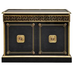 The pattern used around the top is distinctly Greek, as well as the symmetrical design in the two doors Furniture Styles, Cool Furniture, Painted Furniture, Furniture Design, Greek Design, Key Design, Cabinet Furniture, Antique Furniture, Versace Furniture