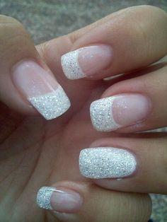 Bling bling color street, french nails, nail envy, wedding nails, hair and Fancy Nails, Cute Nails, My Nails, Nagellack Design, Nagellack Trends, Cute Acrylic Nails, Glitter Nails, Glitter Wedding Nails, Wedding Nails For Bride