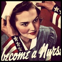 Military Gift Idea: Become A Nurse ~ Your Country Needs You Poster Become A Nurse ~ Your Country Needs You. Young woman receiving her nursing cap upon completion of medical nurse training. World War Two Office of War Information. Nursing Information, Becoming A Nurse, Vintage Nurse, Nursing Students, Nursing Schools, Nursing Profession, Nursing Career, Nicu Nursing, School Nursing