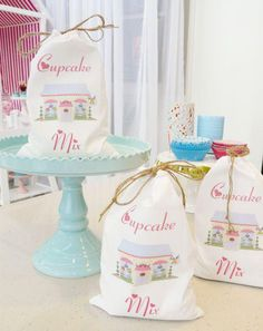 Bake Shop Party- Make cupcake mix and put it in cute bags and set out for people to make cupcakes.