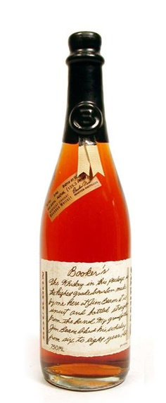 Booker's Bourbon - cask strength at 129 proof - one of the many bourbon's I tried - not what I like to drink - big, bold, fiery, and unfiltered.