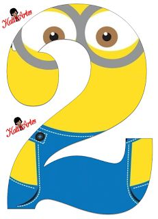 EUGENIA - KATIA ARTS - LETTERS AND CUSTOM BLOG few things: Minions Numbers