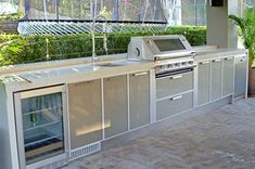 Ways To Choose New Cooking Area Countertops When Kitchen Renovation – Outdoor Kitchen Designs Outdoor Kitchen Plans, Outdoor Sinks, Outdoor Kitchen Countertops, Backyard Kitchen, Outdoor Kitchen Design, Concrete Countertops, Outdoor Rooms, Outdoor Living, Outdoor Kitchens