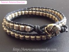 Eu amo makes: Tutorial: Pulseira Chan Luu