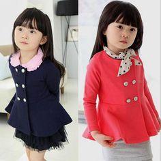 秋ta50212015綿ダブルブレスト韓国子供服女の子のコート仕入れ、問屋、メーカー・生産工場・卸売会社一覧
