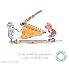 Quentin Blake / Roald Dahl Pelly & Me  From 'Giraffe, Pelly & Me'  Collector's edition print, numbered. Edition of 495.  Mounted size: 350 x 350mm  Framed size: 385 x 385mm