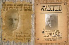 You could use an online tool, or create your own unique customized WANTED poster using free fonts, free papers, and tutorials. Use custom Wanted Posters as gifts, party invitations, decorations, and greeting cards.