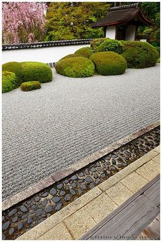 rocks ( ^^)v Not sure about the composition though Other pictures of Japan, Kyoto (京都) and Shoden-ji (正伝寺). Zen Garden Design, Japanese Garden Design, Japanese Landscape, Japanese Architecture, Landscape Architecture, Landscape Design, Architecture Design, Japanese Rock Garden, Japanese Temple