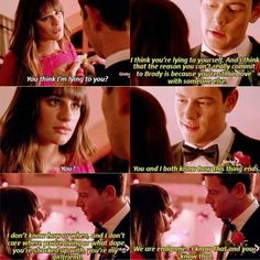 THIS SCENE!! Cory Monteith and Lea Michele's chemistry is so incredibly beautiful. Finn and Rachel Forever. #Finchel #Glee