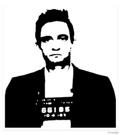 stencil art | Details zu JOHNNY CASH POP ART STENCIL LEINWAND POP ART BILD no CD