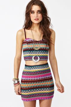 Nasty Gal, bustier and skirt.