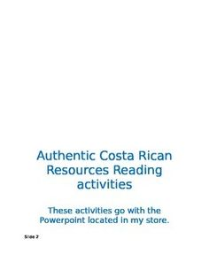 37 best spanish activities images on pinterest spanish activities authentic readings from costa rica activities m4hsunfo