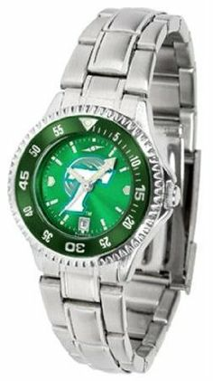 Tulane University Green Wave TU NCAA Womens Steel Anochrome Watch by SunTime. $86.95. Showcase the hottest design in watches today! The functional rotating bezel is color-coordinated to compliment your favorite team logo. The Competitor Steel utilizes an attractive and secure stainless steel band.The AnoChrome dial option increases the visual impact of any watch with a stunning radial reflection similar to that of the underside of a CD. Perceived value is increased with the...