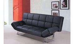 Sofa cama tres plazas apertura clic clac en piel textil. Venta Flash