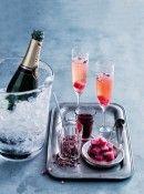 rose & blackcurrant champagne