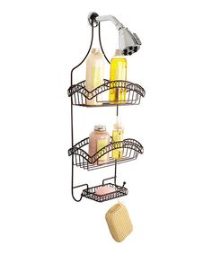 Take a look at this Dark Rust Curls Shower Caddy on zulily today!