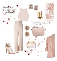 """Total pink"" by xiloveyoustyles on Polyvore featuring moda, STELLA McCARTNEY, Gianvito Rossi, SemSem, Essie, Valentino, Yves Saint Laurent, Witchery, River Island e Fendi"