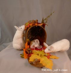 The Autumn Mouse House by bearsjustbclaws on Etsy