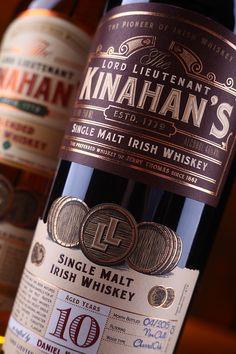 Kinahan's Single Malt Irish Whiskey Whiskey Label, Whiskey Brands, Cigars And Whiskey, Whiskey Cocktails, Web Design, Label Design, Packaging Design, Single Malt Irish Whiskey, Strong Drinks