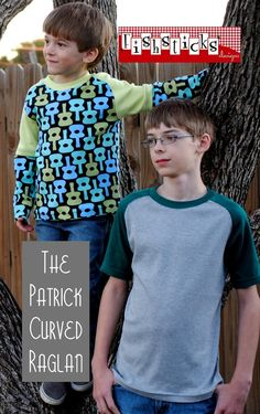 d1a10b371 The Patrick Curved Raglan / Big Kid Sizes | Fishsticks Designs Sewing  Patterns For Kids,
