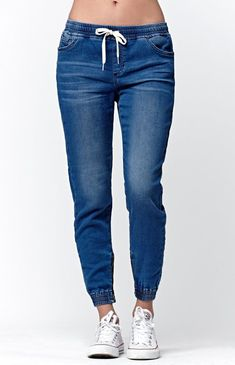 2018 Summer Casual Women Jeans Plus Size Woman Drawstring Washed Bleached Scratched Ripped Fashion Stretch Denim trousers Lässigen Jeans, Casual Jeans, High Jeans, High Waist Jeans, Skinny Jeans, Blue Jeans, Jeans Style, Loose Jeans, Cropped Jeans