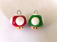 Cute Mario Mushrooms Best Friend Polymer Clay